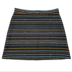 H&M Multicolor Stripe Stretchy Mini Skirt